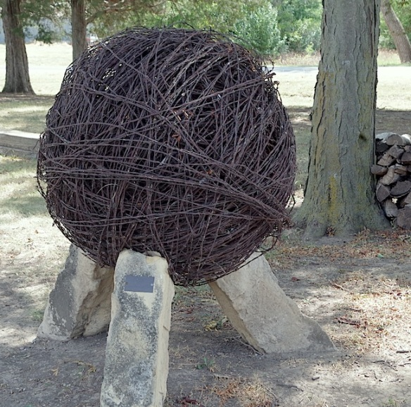Ball of barbed wire, Kansas Barbed Wire Museum, LaCrosse, KS