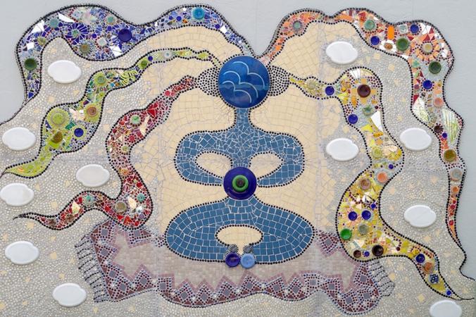 Bowl Plaza mosaic, Lucas, KS