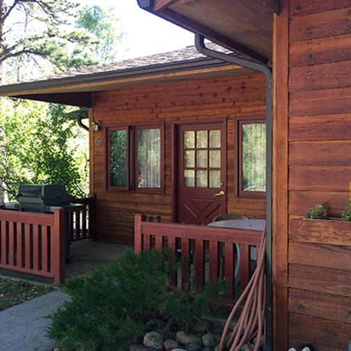 Streamside on Fall River cabin