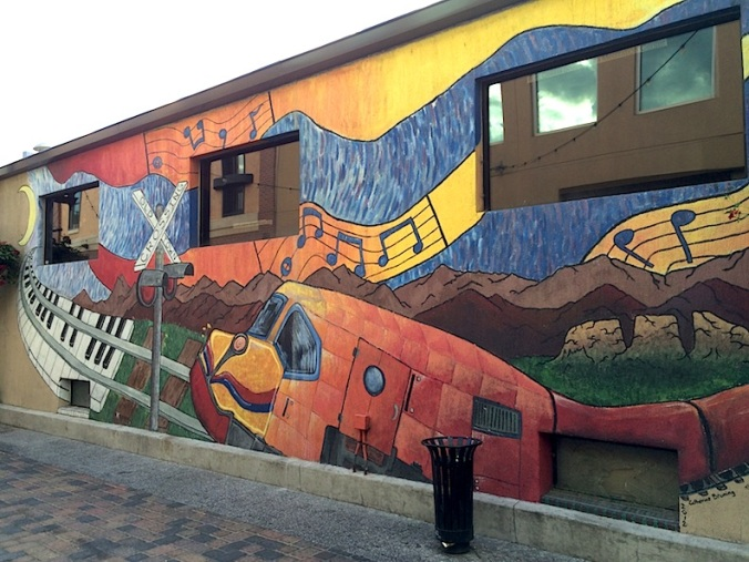 Alley mural, Old Town, Fort Collins, Colorado