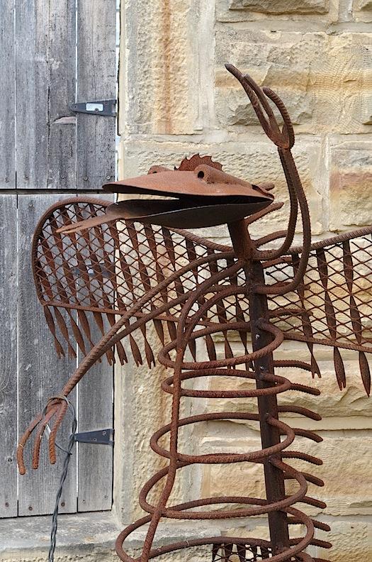 Courtyard sculpture, Grassroots Art Center, Lucas, KS