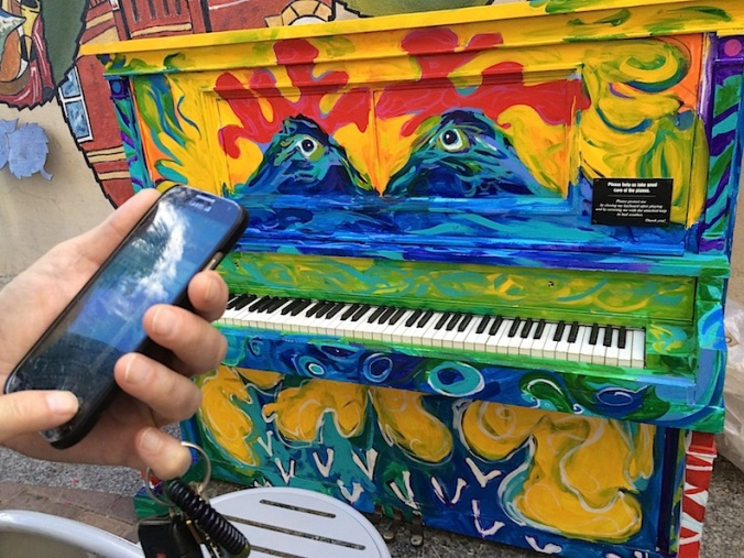 Painted piano, Fort Collins, Colorado