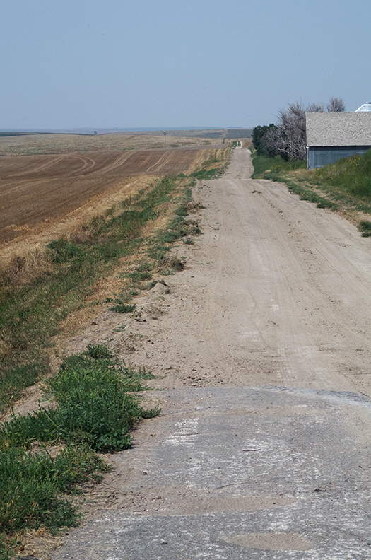 Dirt road, northwest Kansas