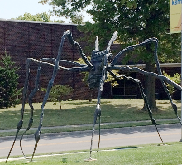 """Spider,"" by Louise Bourgeois, 1996. This sculpture serves as the Kemper's logo."