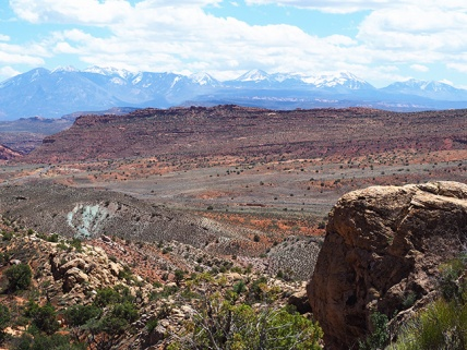 La Sal Mountains seen from Arches National Park