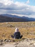 Meditator atop Huffers Hill
