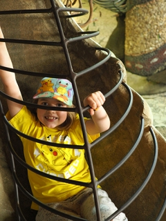 Girl in tunnel slide