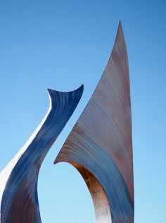 Duet, by Jeff K. Laing, Benson Sculpture Garden