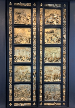 Gates of Paradise, by Lorenzo Ghiberti, Nelson-Atkins Museum of Art