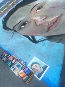 Portrait and pastels