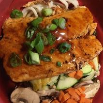 Salmon bowl at Tokyo Joe's