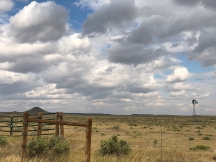 Windmill and clouds south of Soapstone Prairie