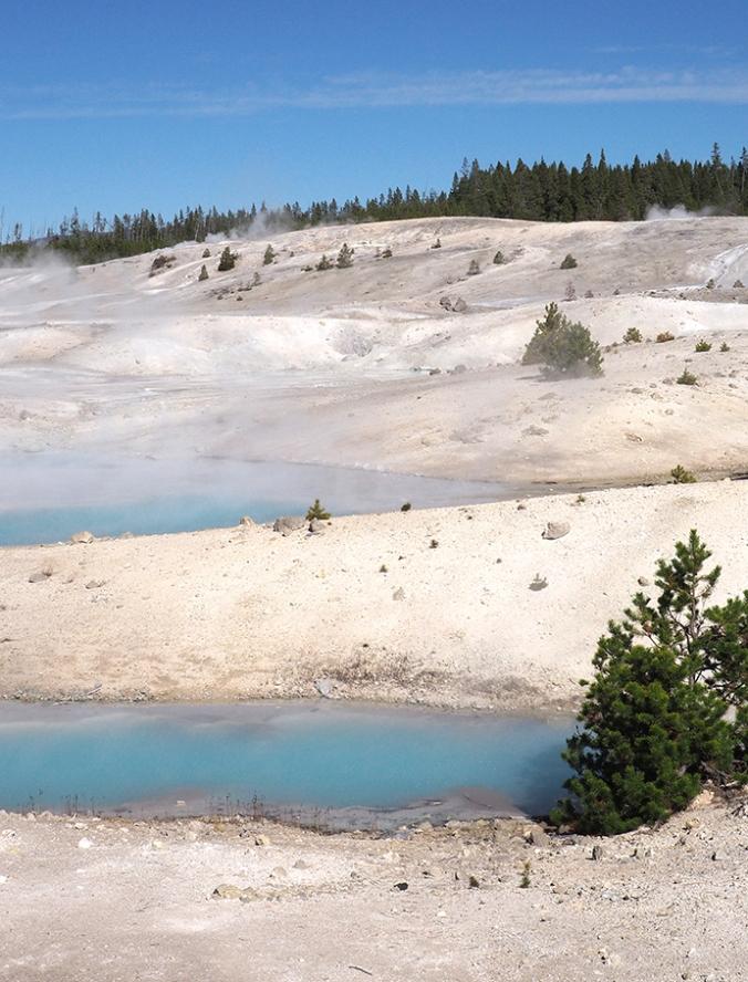 Hot springs, Porcelain Basin