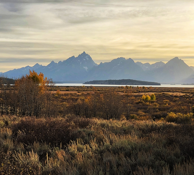 Tetons at sunset