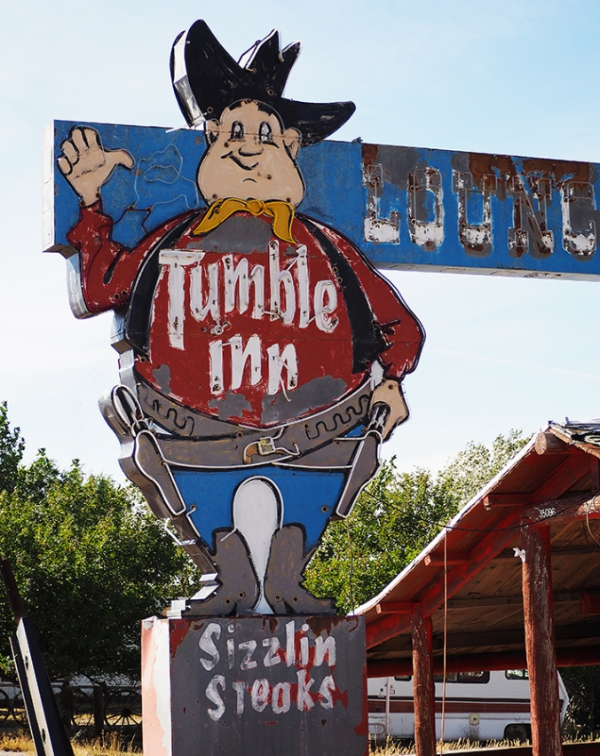 The defunct Tumble Inn, Powder River, Wyoming