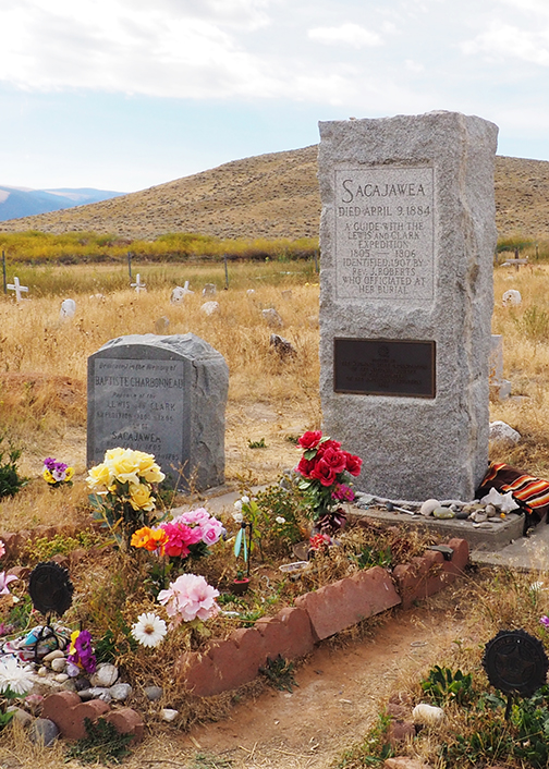 Sacajawea grave marker