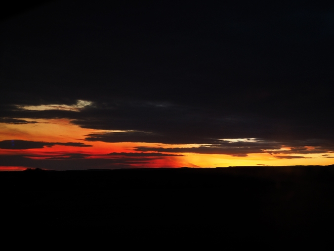 Sunset south of Cheyenne