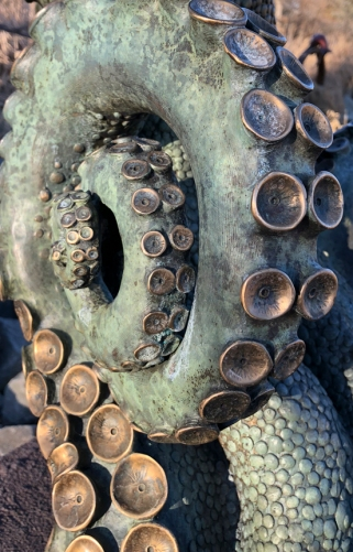 Detail, Pacific Giant, by Adam Scultz, Benson Sculpture Garden